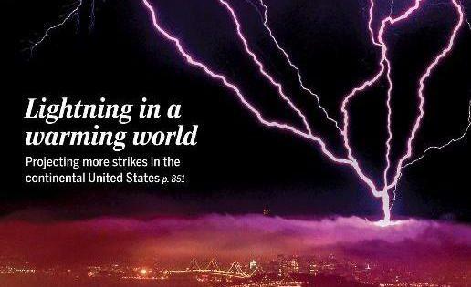 Tres millones más de rayos al año por el cambio climático