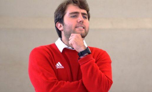 Alberto Martínez del Campo, entrenador de Fray Luis de León (alevín futsal mixto)