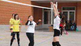 Las mejores imágenes del partido de voleibol infantil femenino entre Nuestra Señora del Carmen y Decroly