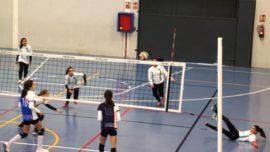"""Las mejores imágenes del partido de voleibol entre San Luis de los Franceses """"B"""" y Ntra. Sra. de Sagrado Corazón"""