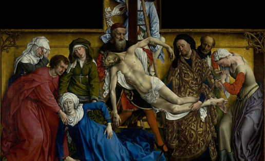 Lágrimas en el descendimiento de Van Der Weyden