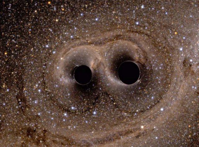 La fusión de dos agujeros negros genera ondas gravitacionales -National Science Foundation