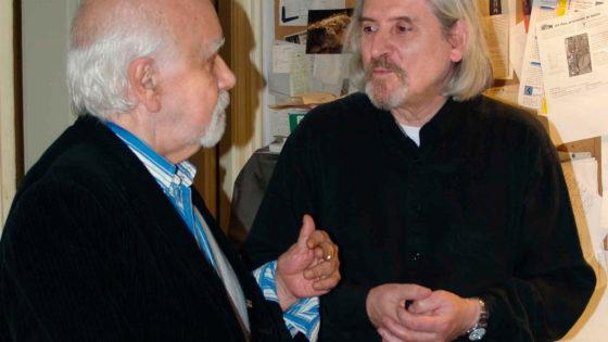 Francisco Nieva y José Hernández en la galería Leandro Navarro