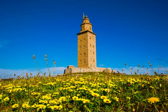 Hercules Tower and Lighthouse, 1st century. Coruña. A Coruña. Galicia. Spain
