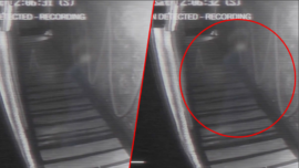 Cámara de seguridad graba a supuesto fantasma en un bar de Inglaterra