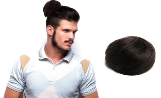El 'man bun' postizo, la nueva moda para los hombres