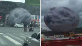 Un globo gigante provoca el caos en China