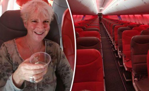 La mujer que viajó en un avión con 189 asientos…para ella sola