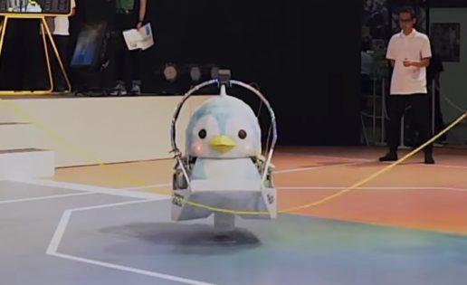 Un robot pingüino logra un récord Guinness saltando a la comba