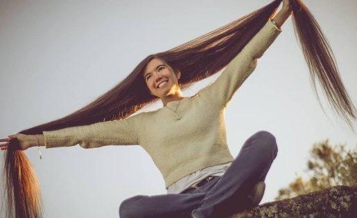 Esta es la mujer con el pelo más largo del mundo