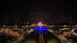 El asombroso baile de 1.374 drones en China