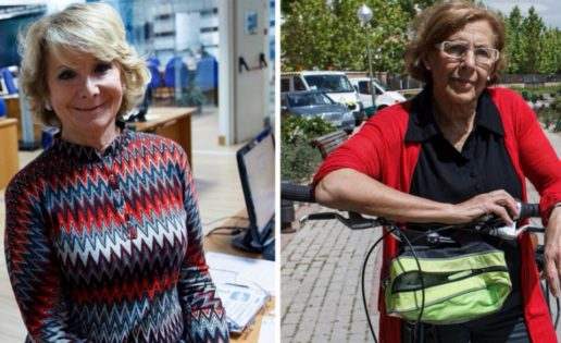 La progre Carmena contra la liberal Aguirre