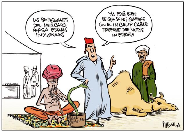 Indignación en el mercado persa