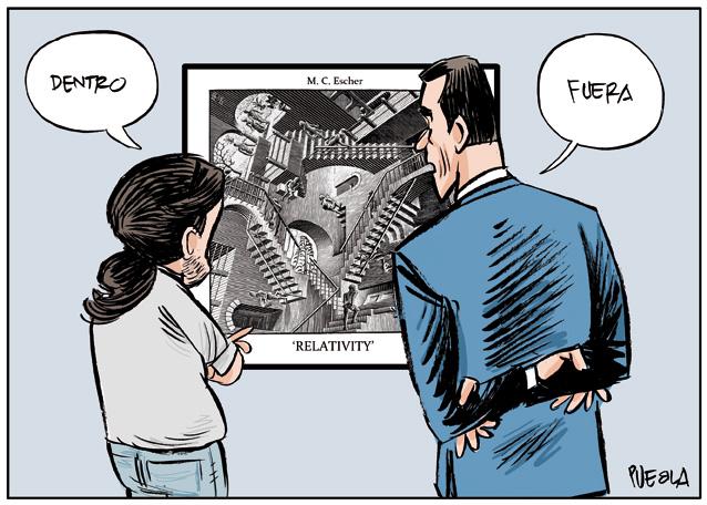 Sánchez, Iglesias y la escalera de Escher