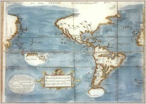 Las Yndias Occidentales. A.Herrera y Tordesillas,1601