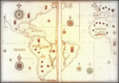 Mapa anónimo, indica el trazado.