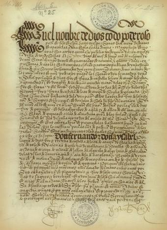 Página original del tratado. Biblioteca Nacional de Lisboa.