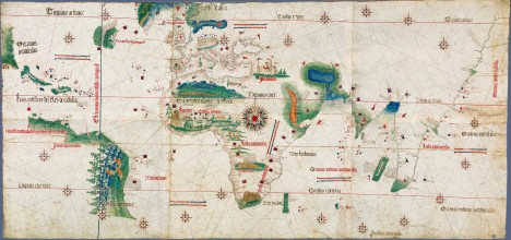 Planisferio de Cantino, 1502.