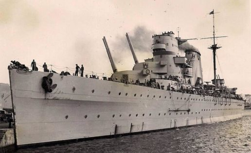 El crucero Canarias y la tentativa de salvamento de los náufragos del Bismarck