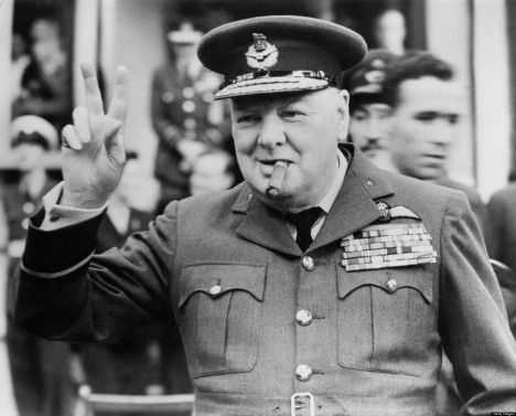 FILE PHOTO: 70 Years Since Winston Churchill Launched His V For Victory Campaign