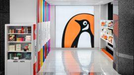 Original diseño de la tienda Penguin Books