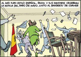 Rajoy y el banderín de corner, por J.M. Nieto