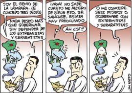 Sánchez y el genio de la lámpara