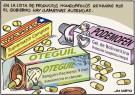 Productos homeopáticos, poco recomendables.