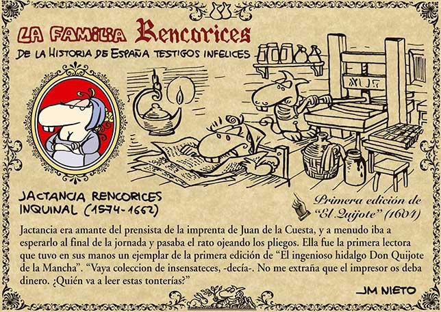 La familia Rencorices, de la historia de España testigos infelices (VI)