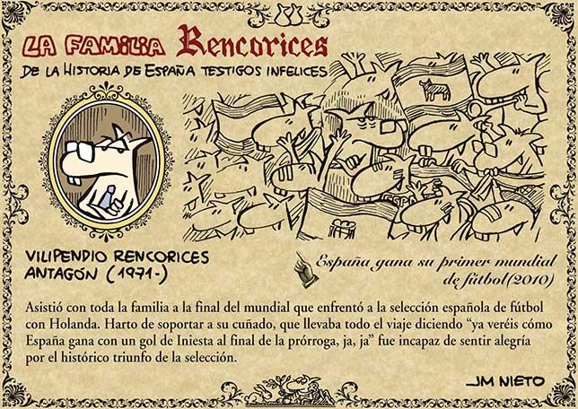 La familia Rencorices, de la historia de España testigos infelices (IX)