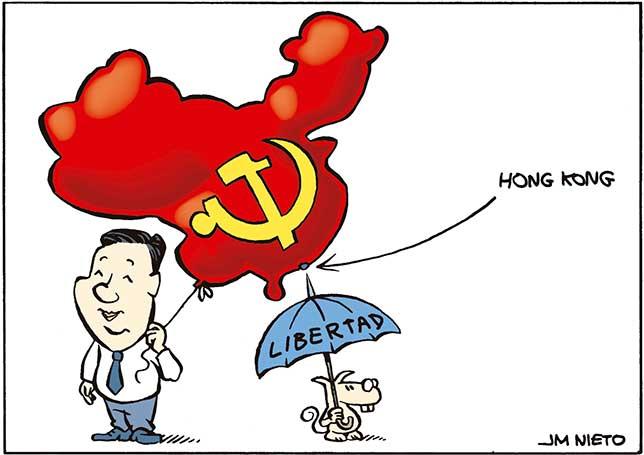 Paraguas contra la mayor dictadura del mundo