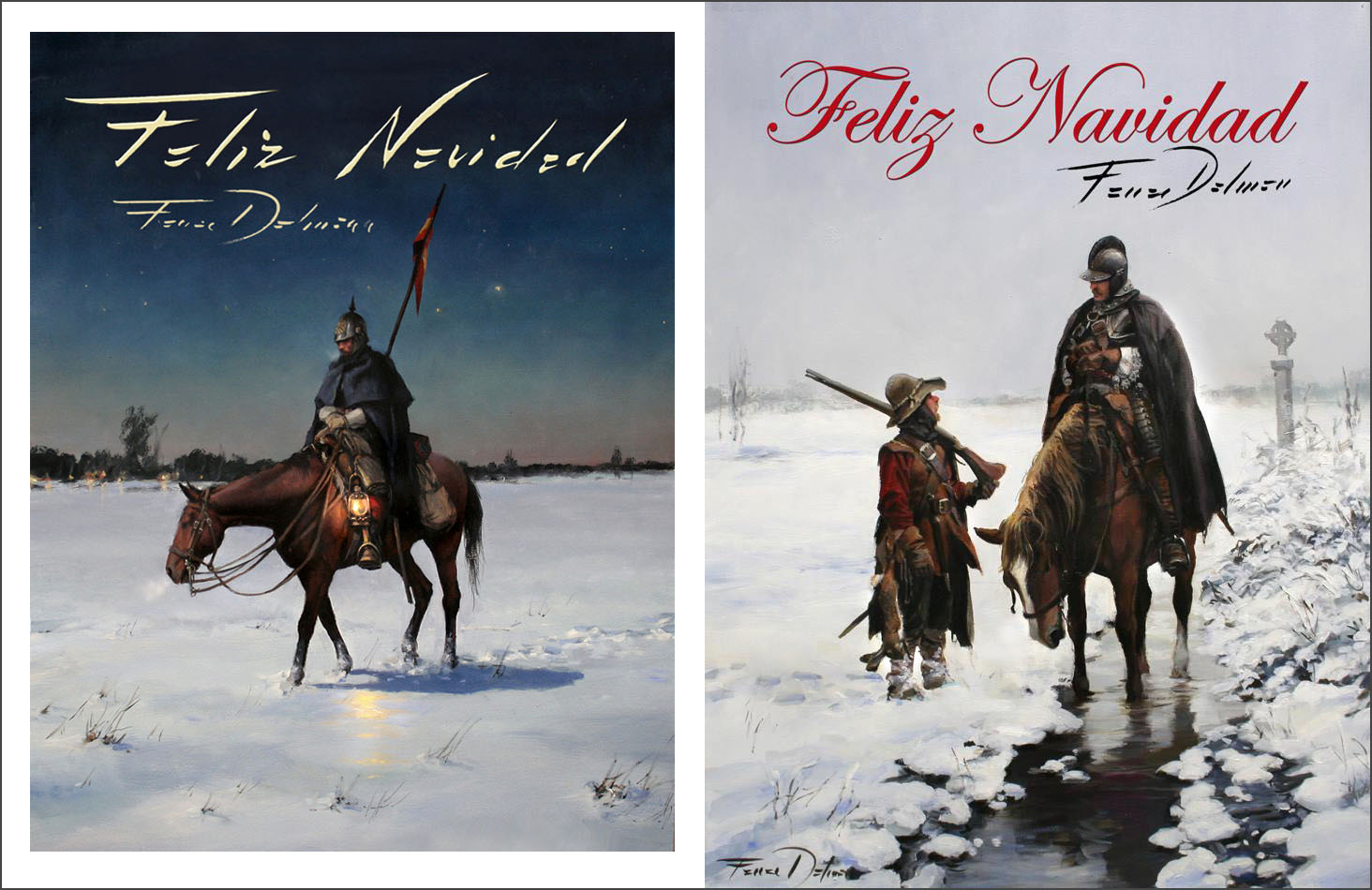Fotos De Hombres Felicitando La Navidad.Estampas Para Navidad El Pintor De Batallas