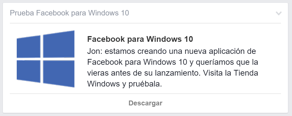 facebook windows