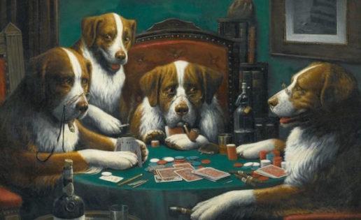 El cuadro «Perros jugando al póker», vendido por 620.000 euros