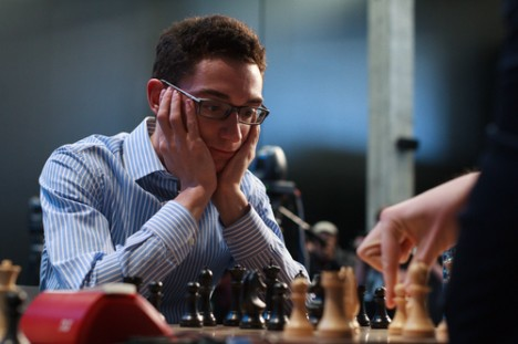 Fabiano Caruana. Fotos: Evgeny Pogonin / World Chess