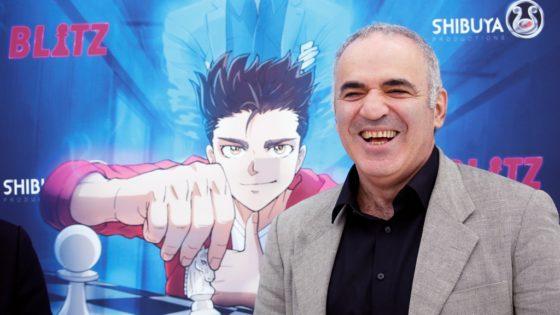 Kasparov promociona en Cannes el manga «Blitz»