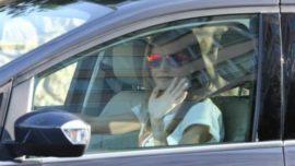 Letizia al volante