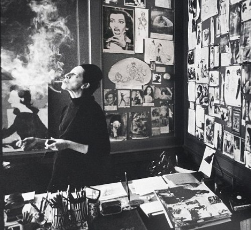 Diana-Vreeland-office-at-Vogue-c.-1965-via-Daily-Mail