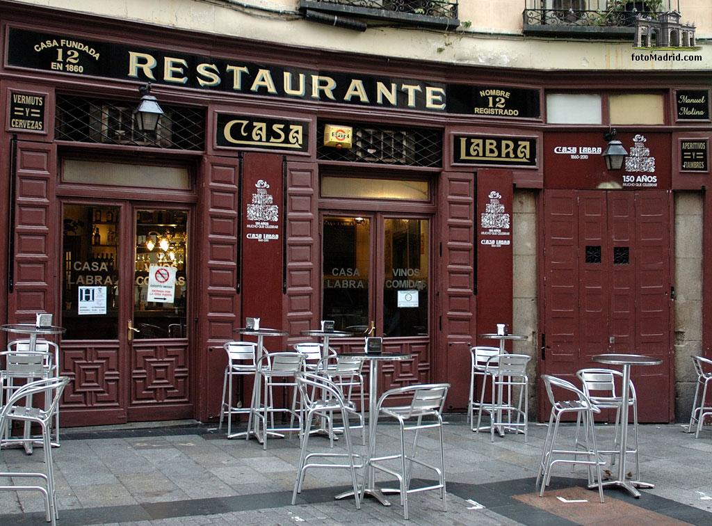12 restaurantes centenarios en madrid laboratorio de estilo - Casa arabe madrid restaurante ...