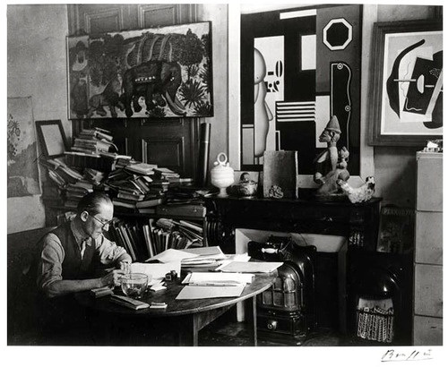 Le-Corbusier-at-his-desk