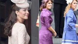 """Middleton, las """"hermanastras"""" y la moda"""