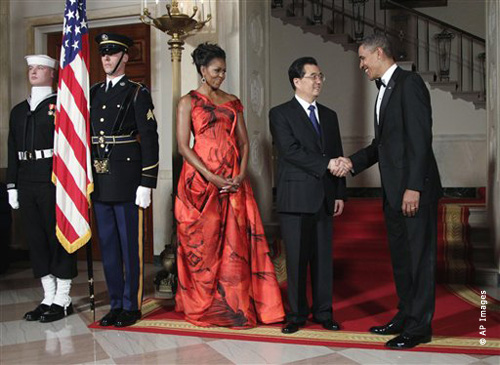 Barack Obama, Hu Jintao, Michelle Obama