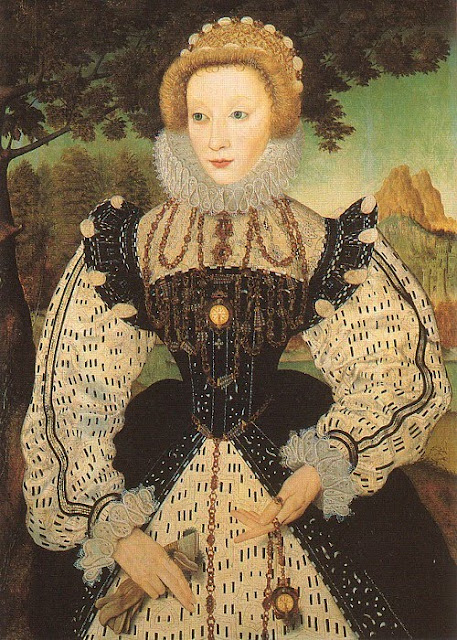 1560s Unknown Lady, formerly identified as Mary Queen of Scots holding gloves by an Unknown Artist