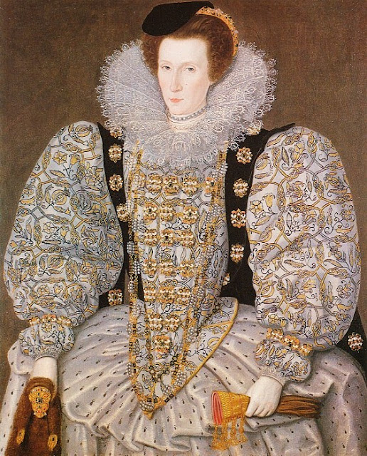 1595 Unknown Ladyholding gloves  attr to William Segar