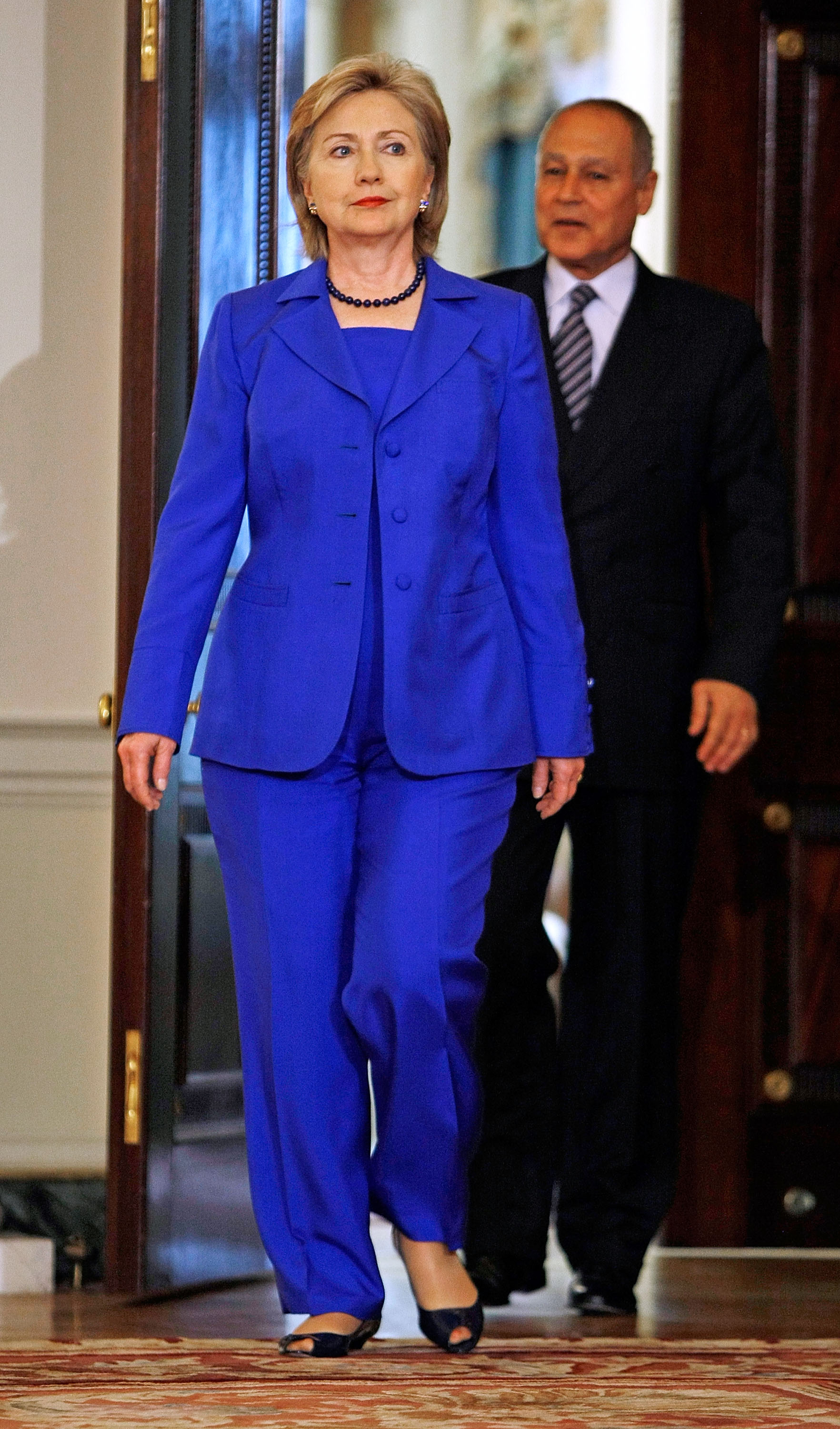 Hillary Clinton Meets With Egyptian Foreign Minister