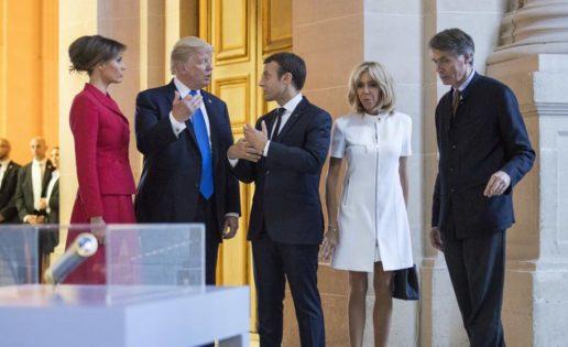Melania y la indiscreción de Trump con Brigitte