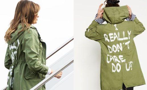 Melania y su chaqueta con mensaje