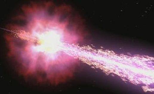 Monstruoso estallido de rayos gamma en nuestra vecindad cósmica
