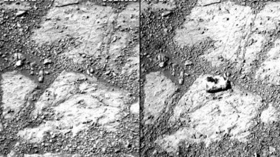 Una roca aparece en Marte «de la nada» frente a las cámaras