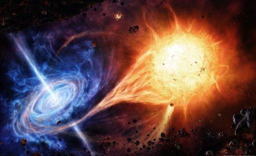 Observan cómo una estrella «herida» escapa de un agujero negro